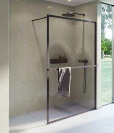 Czarna kabina prysznicowa Riho Lucid z wieszakiem na ręcznik. ------------------------ #riho #projektowaniewnetrz #kabina #Showers #prysznic #showercabin #mynordicroom #architekturawnętrz #lazienki #lazienka #toilet #bathroominspo #trojmiasto Shower Cabin, Cabins, Wardrobe Rack, Furniture, Home Decor, New Homes, Decoration Home, Shower Enclosure, Room Decor