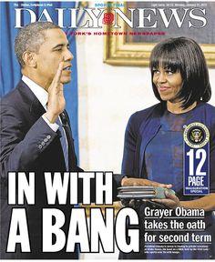 nydailynews - Juramento do  segundo mandato do presidente Obama - 2013