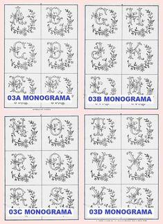 Monogramas para bordar - download grátis