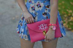 #romper #astr #nordstrom #springromper #floralromper #howtowear #waystostylearomper #monogramclutch #monogram #floridablogger #springfashion IG: Ninaerin18 www.lawoffashionblog.com