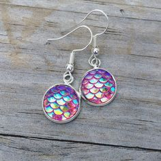 Mermaid Earrings #rainbow #scales #mermaidscales #etsy #jewelry #simple #classic #classy #sparkle #etsyfinds #etsyshop #etyseller #etsyfeature #new #makers #crafts #crafting #style #wearit #classyjewelry #mermaid #nautical #dreamingofthesea #charms #earrings #mermaidearrings #scaleearrings #sparkly #pearlescent #red
