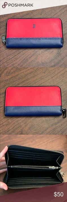 Coach Boston Red Sox's Long Wallet Never been used. Coach long Wallet with Boston Red Sox logo! Tons and tons of card capacity! Coach Bags Wallets