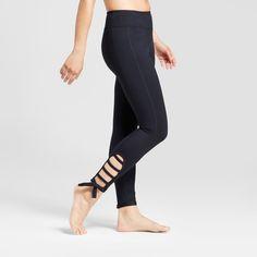 Women's 7/8 Comfort Side Tie Leggings - JoyLab Black Xxl
