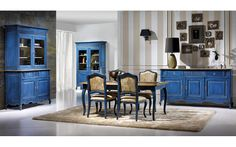 Ambiente Comedor Vintage Provenzal - Dining Room Vintage Provenzal Colonial, Gallery Wall, Dining Room, Places, Blue, Furniture, Cupboards, Home Decor, Decor Ideas