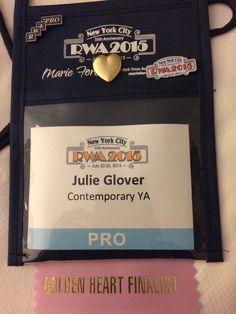 My nametag with a super-fun ribbon on the bottom! RWA 2015.