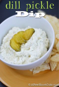 Dill Pickle Dip Recipe! Great for football snacking!