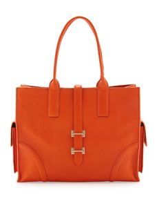 Simpatico East-West Tote Bag, Clementine