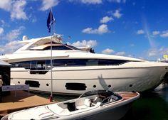 Ferretti #Yachts on display at the #MiamiBoatShow 2015, 12-16 Feb 2015. #luxury…