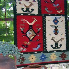 Handwoven rug handwoven wool rug Chiprovtsi kilim rug by RugsNBags  #handwoven…