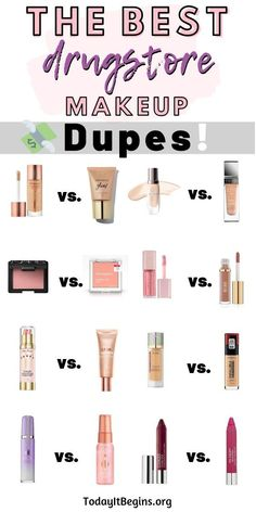 Best Drugstore Dupes for High-End Makeup - Today It . Best Drugstore Dupes for High-End Makeup - Today It . Make Up Kits, Best Foundation Makeup, Foundation Dupes, Best Full Coverage Foundation, Best Foundation For Dry Skin, Foundation Application, Mac Velvet Teddy, Beauty Make-up, Beauty Dupes