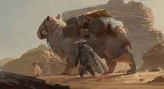 Concept art la traversée du désert www.socreative.be: