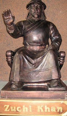 Jochi, also spelled Jöchi and Juchi (c. 1181–1227), was the eldest of the Mongol chieftain Genghis Khan's four sons by his principal wife Börte. An accomplished military leader, he participated in his father's conquest of Central Asia, along with his brothers and uncles.