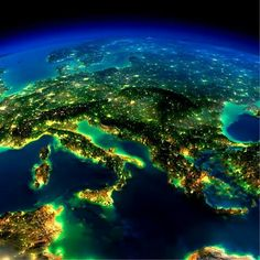 Europe from space. Photo by NASA.