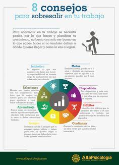 8 consejos para sobresalir en tu trabajo #infografia #infographic #rrhh