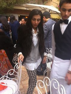 Fashion comes naturally to Feeha Jamshed, seen here wearing H houndstooth pants and her mother's vintage vest.