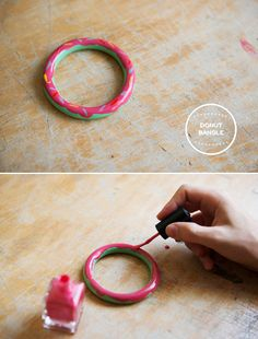 The Homer Simpson donut bangle is the yummy arm party you need this summer. | The 52 Easiest And Quickest DIY Projects Of All Time