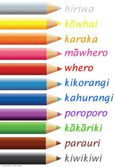 Māori Nga Tae Colours in Maori. Tattoo Maori Design, Maori Band Tattoo, Tribal Tattoo Designs, Armband Tattoo, Maori Tattoos, Hawaiian Tribal Tattoos, Samoan Tribal Tattoos, Maori Designs, Art Maori