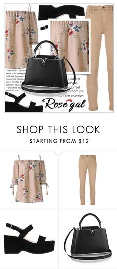 """""""ROSEGAL"""" by amilasahbazovic ❤ liked on Polyvore featuring AG Adriano Goldschmied and Marc Jacobs"""