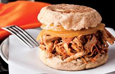Bodybuilding.com - Slow Cook: pulled pork  Serving Size (Makes 8 Servings)  Amount per serving  Calories 200  Total Fat4g  Saturated Fat1g  Total Carbs7g  Protein33g  Fiber0g  Cholesterol100mg  Sodium397mg