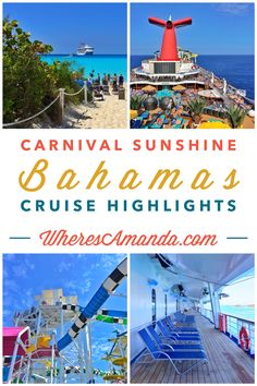 Considering a cruise vacation? Check out all there is to see and do on a Carnival Cruise to the Bahamas