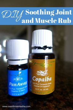DIY joint and muscle rub that I used for bruises, sore muscles and post workouts! #essentialoils #YLEO #DIY