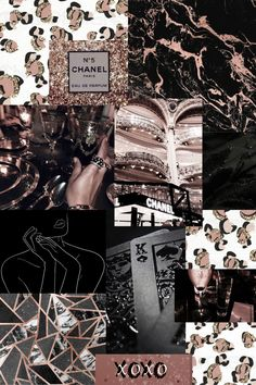 Rose Gold, Black, and Cheetah Mood Board Collage Her Wallpaper, Bad Girl Wallpaper, Wallpaper Iphone Cute, Gold And Black Wallpaper, Gold Wallpaper Background, Iphone Wallpaper Tumblr Aesthetic, Aesthetic Pastel Wallpaper, Black And Gold Aesthetic, Rose Gold Backgrounds