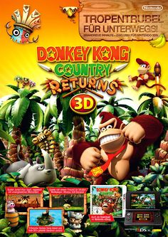 Advert . Donkey Kong Country Returns 3D . Nintendo 3DS