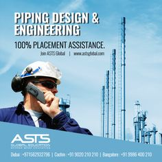 PG diploma Program with Latest Software like CAESAR II, AUTO-CAD & PDMS. Apply Now! Register here:https://goo.gl/6bYz1K Contact us for more details: www.astsglobal.com , info@astsglobal.com Call us now: +91 9020 210 210- Kochi | 09986 400 210- Bangalore| +971562932796- Dubai #ASTS #Tekla #Aveva #OilandGas #Piping #PDMS #ASTSDubai #ASTSIndia #ASTSSingapore