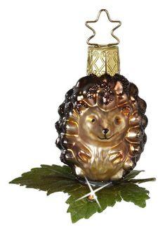 Lrg HEDGEHOG GERMAN BLOWN GLASS CHRISTMAS TREE ORNAMENT FOREST ANIMAL