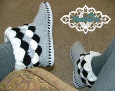 Ganchillo botas de Gretel sombreros del ganchillo kufi por ManieOne