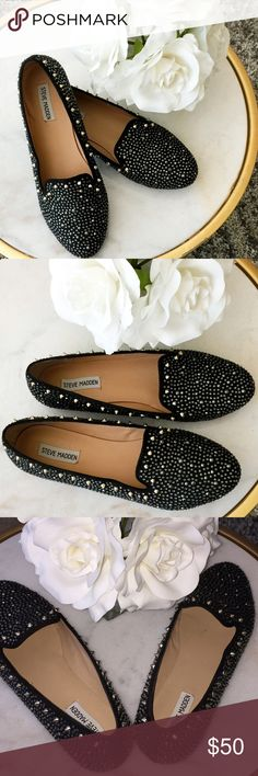 Steve Madden Studded Loafers (Size 11) Steve Madden sparkly studded loafers. In good condition, worn once. Steve Madden Shoes Flats & Loafers