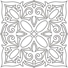 татарские узоры и орнаменты трафареты - Поиск в Google Doodle Patterns, Tile Patterns, Embroidery Patterns, Stencil Designs, Applique Designs, Quilting Designs, Mandala Coloring, Colouring Pages, Glass Painting Patterns