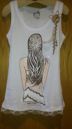 Camiseta de tirantes para chica, pintada a mano Colorin Colorado, todo hecho a mano