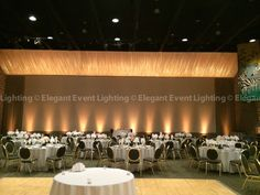 Our sister company, @eelchicago, also provided the beautiful warm amber uplighting that illuminated the perimeter of the Discovery Center for Lindsay & Jesse's reception.