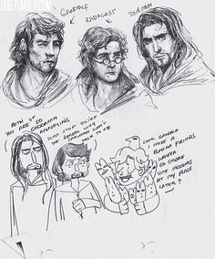 """o9b: """" Gandalf, Radagast, and Saruman de-aged a couple million years based on young Ian McKellen, Sylvester McCoy (who actually looked quite a bit like Tom Hiddleston when he was younger) and Christopher Lee. """""""