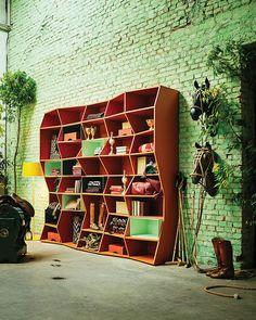 Stylish ZigZag Bookshelf by Henrique Steyer for Florense ZigZag Bookshelf By Henrique Steyer Is Snazzy But Trendy