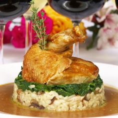 The herb roasted pheasant with wild rice stuffing recipe is from the 2009 Inaugural Luncheon is courtesy of Design Cuisine. Wild Pheasant Recipe, Easy Pheasant Recipes, Pheasant Farm, Quail Recipes, Rice Recipes, Pork Recipes, Luncheon Recipes, Brunch Recipes