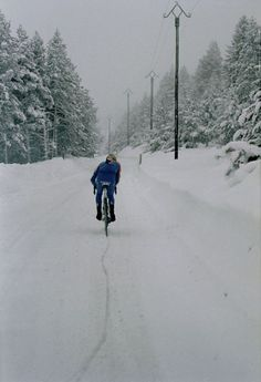 yes, we can | bike in winter