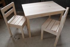 Alice's Table and Chairs | Do It Yourself Home Projects from Ana White