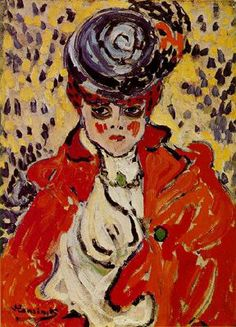 Maurice de Vlaminck (French, Portrait of a Woman 1905 'Fauvism' was the first 'Modern Art Movement' of the century. Expressionist Artists, French Art, Fauvist, Fauvism Art, Great Works Of Art, Art, Fauvism, Art Movement, Portrait