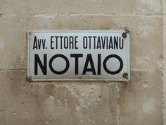 Italian signage