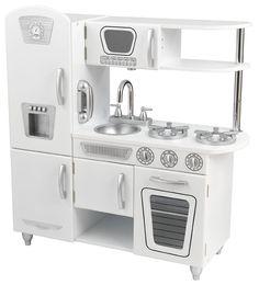 Modern white kitchen for kids