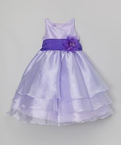 Look at this #zulilyfind! Sophia Young Lilac Organza Dress & Sash - Toddler & Girls by Sophia Young #zulilyfinds