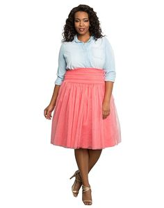 5 fashionable spring outfits with a plus size tulle skirt