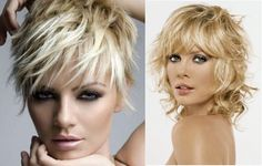 Short Cropped Hair Cut - for thin hair - love the one on the right and could still use curling wand