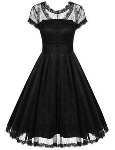 Amazon.com: ACEVOG Women's Lace Crochet Vintage Wedding Party Dresses With double Lining: Clothing