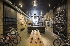 Exhibit - Handsome Cycle Co. by KNOCK #bike #store #design