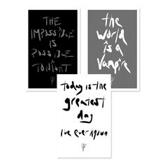 Set of three different screen print posters; each features different Smashing Pumpkins lyrics in a design created from Billy Corgan's handwriting, along with the SP logo. Smashing Pumpkins Lyrics, Screen Print Poster, Rooms Home Decor, Handwriting, Screen Printing, Calligraphy, Screen Printing Press, Hand Lettering, Silk Screen Printing