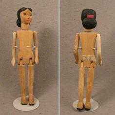 """10"""" c.1950s Helen Bullard Wood Doll Holly Dolly Ozone, Tenn."""