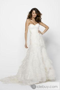 Amazing Trumpet/Mermaid Sweetheart Floor-length Chapel Tiered Wedding Dress $201.00 tidebuy.com